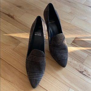 Stuart Weitzman Houndstooth Closed Toe Heels